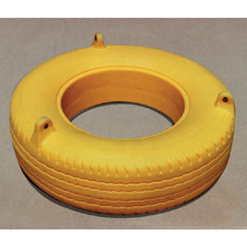 Commercial Poly Molded Tire Swing Built In Eye Bolts