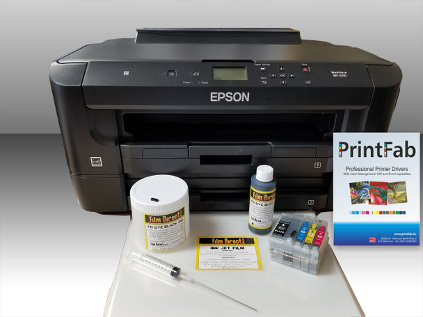 Epson WF 7210 Film Output Bundle with RIP