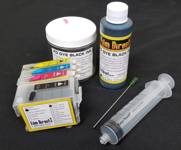 Small Format All Black Ink KIt - Epson 1430, R1800, R1900, WF1100, WF7710 Compatible