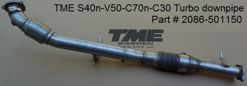 TME 2086-501150 TME Performance Downpipe, Volvo S40/V50, C30/C70 FWD/AWD