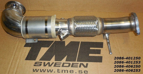 TME TME Downpipe, Volvo S60/V60 T5 FWD 2.0L 4-cyl VEA engine
