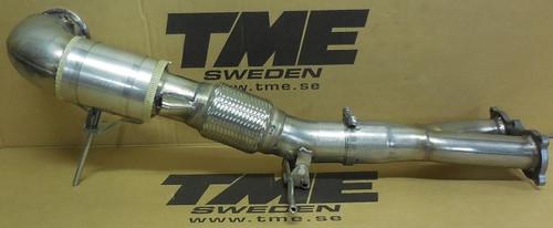 TME 2086-406450 TME Downpipe, Volvo S60/V60 T5/T6 AWD, XC60 T5/T6 AWD 2.0L 4-cyl VEA engine
