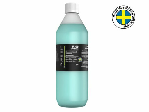 Pureest A2100 A2 Alkaline Degreaser Concentrate - 1 Liter