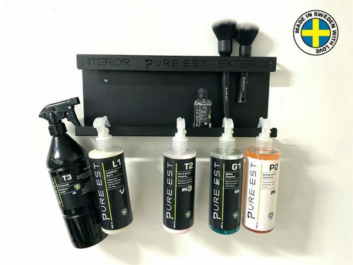 Pureest PUR40 Wall-Mounted Bottle and Brushes Rack