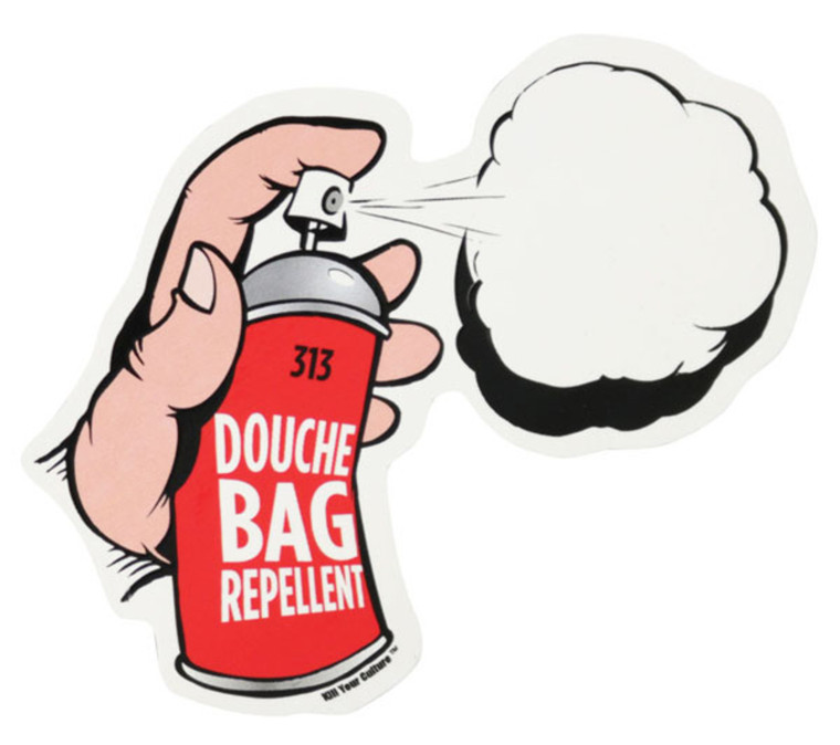Douche Bag Repellent Sticker