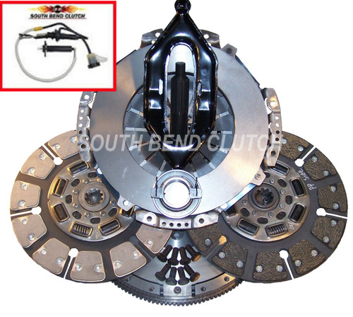 650HP Dodge Street Dual Disc Clutch With Hydraulics South Bend Clutch Dodge G56 Trans 2005.5+