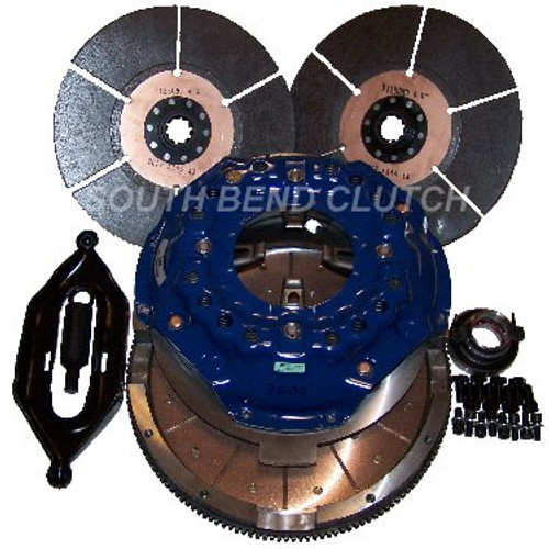 Ford 850HP Competition Double Disc Clutch FDDC360060 South Bend SFI Clutch 6.0L Ford 2004-2007