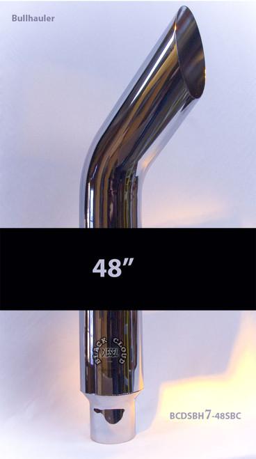 "7"" Chrome Bullhauler Stack Bullhorn 7"" x 48"" with 5"" OD Base Grand Rock Stacks SBH7-48SBC-5"