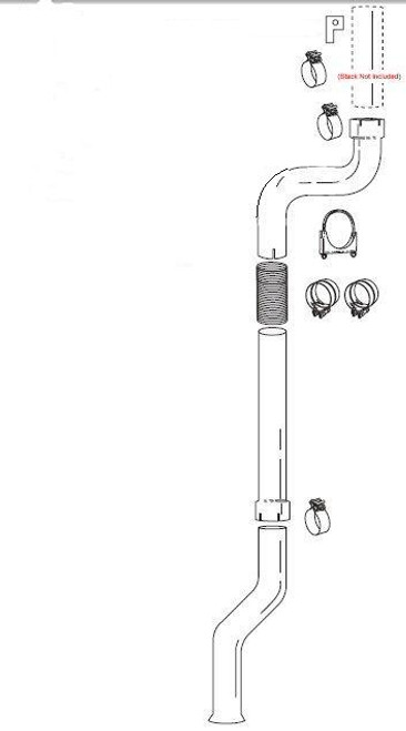"Turbo Back Single Stack Kit  GM DMAX 01-07(notLMM)- For 6"" Stacks"