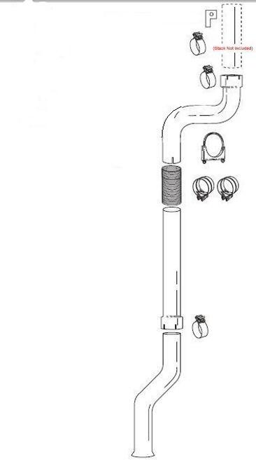 "Turbo Back Single Stack Kit  GM DMAX 01-07(notLMM)- For 5"" Stacks"