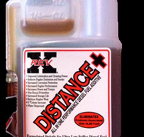 Diesel Fuel Additive Fuel Treatment RevX Distance+ Plus 8 oz. bottle