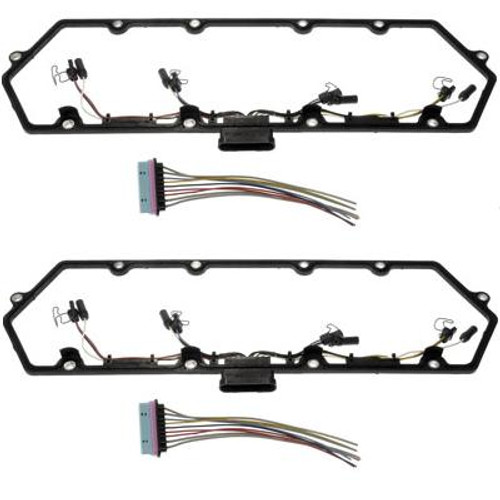 Dorman 99-03  DUAL Valve Cover Gasket Kit w/Fuel Injector Wiring Harnesses 7.3L Ford
