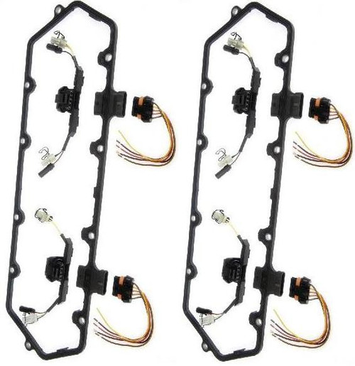 Dorman 94-97 DUAL Valve Cover Gasket Kit w/Fuel Injector Wiring Harnesses 7.3L