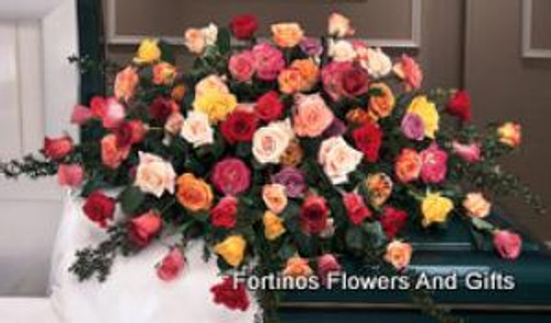 Rose Garden Casket Spray