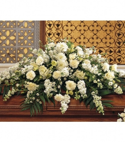 Stunning White Casket Spray