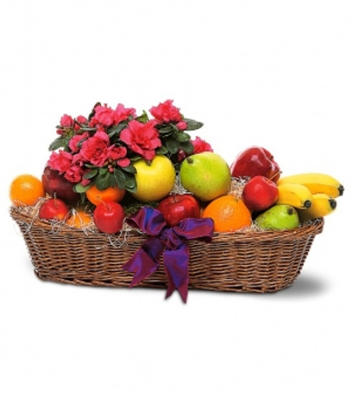 Fruit and Blooming Plant Basket