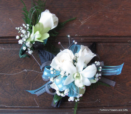 Corsage and matching boutonniere