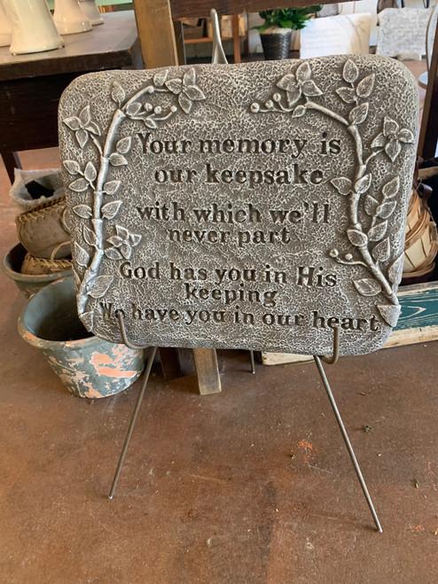 Keepsake Memory Plaque
