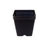 """3.5"""" Pot Square Black Plastic"""