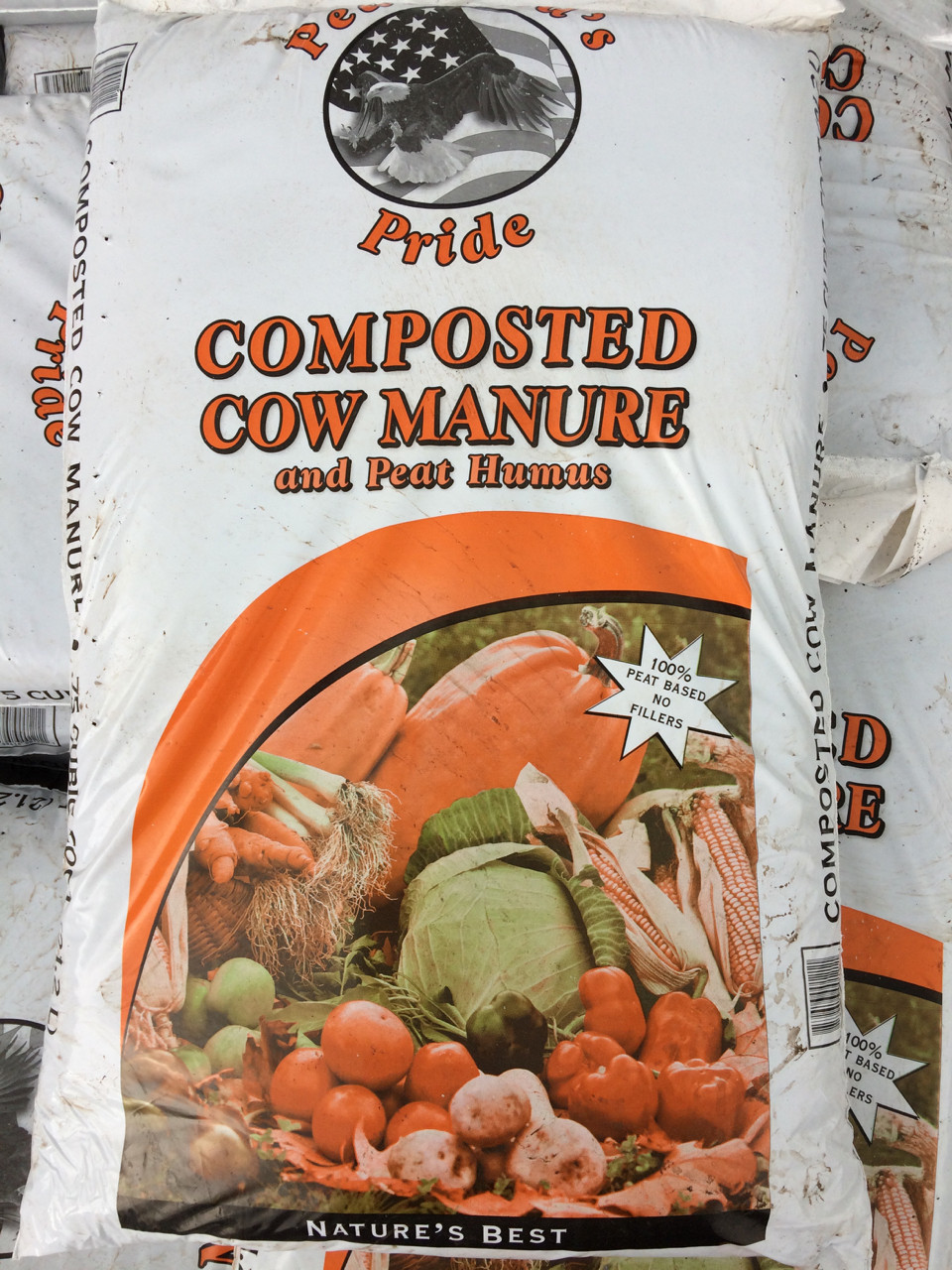 Mixture of cow manure, peat and organic humus derived from peat.