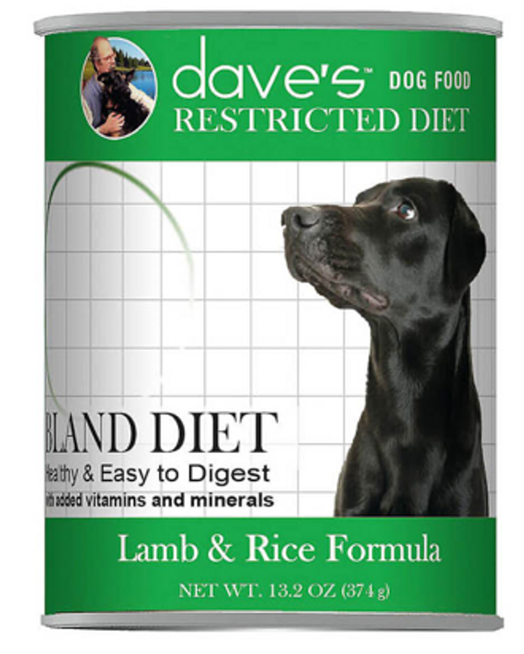 Dave's Dog Can Restricted Diet Bland Lamb/Rice 13 oz.
