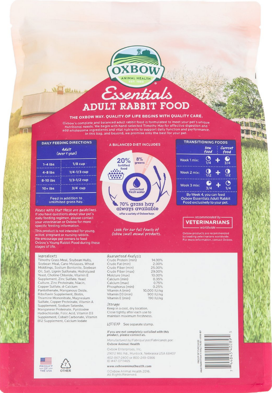 Oxbow Essentials Adult Rabbit 10#