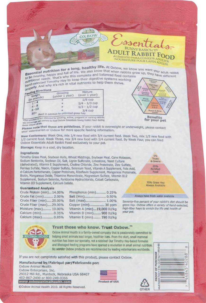 Oxbow Essentials Adult Rabbit 5#