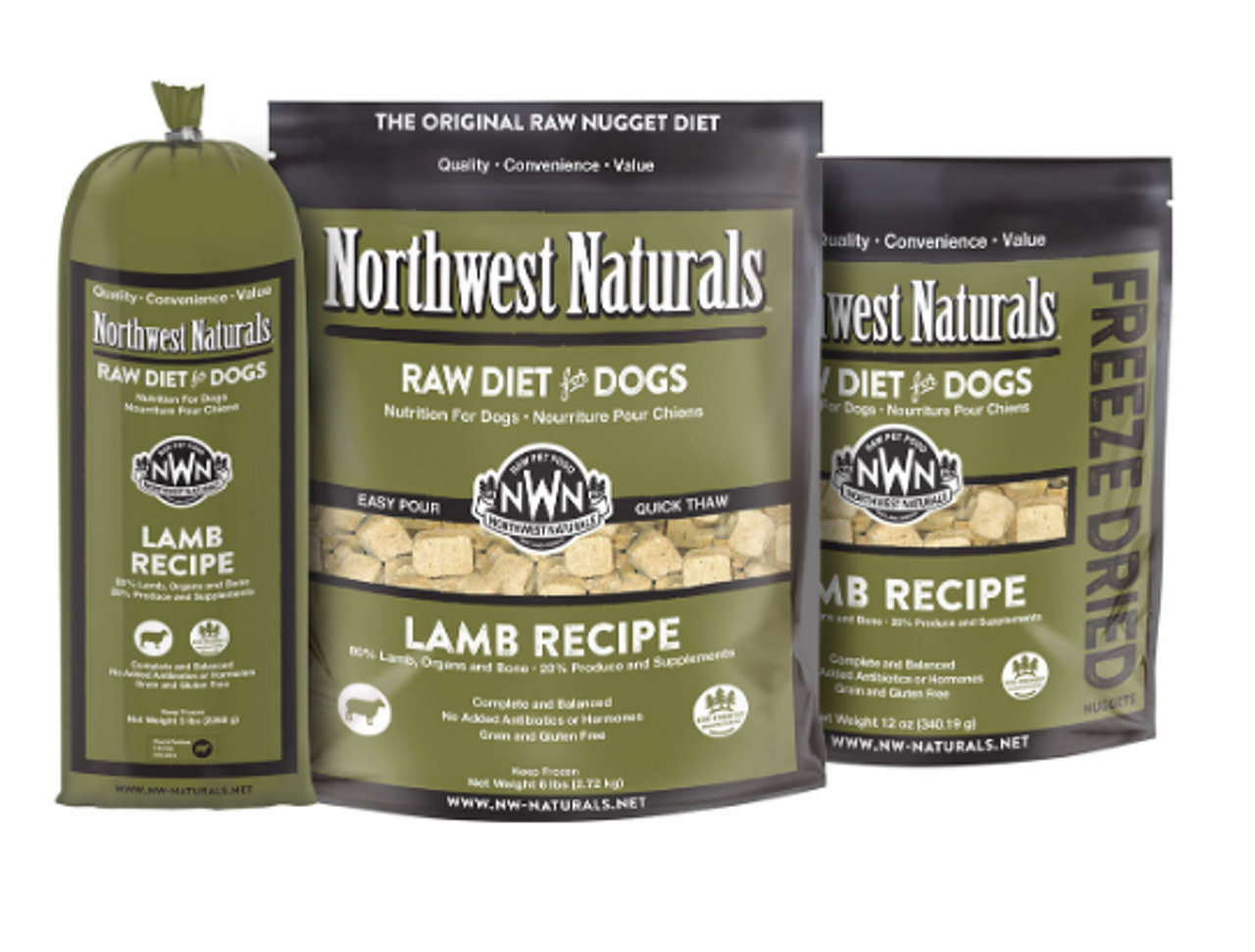 Northwest Naturals Dog Frozen Raw Lamb Nuggets 6#