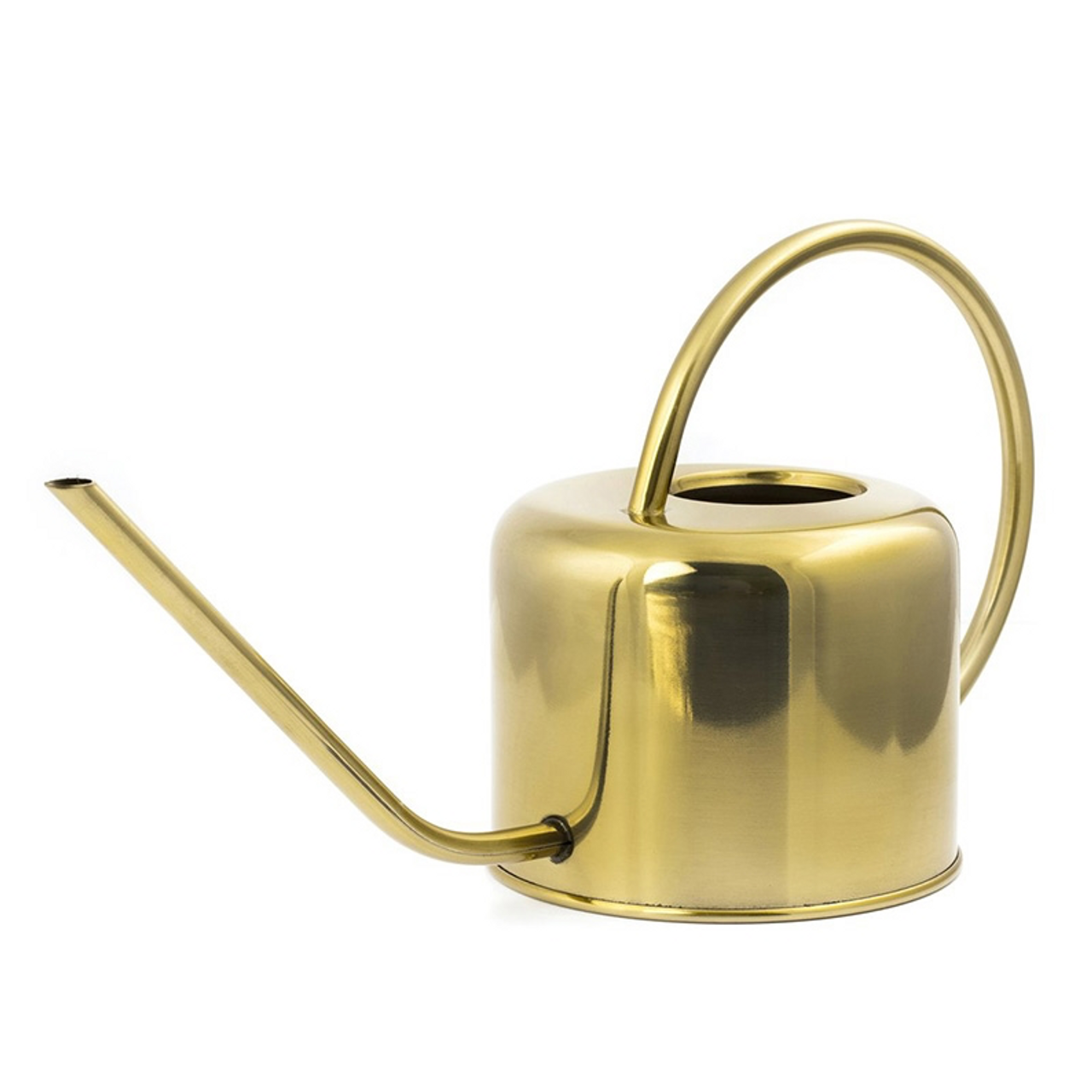 "This beautiful brass watering can is a great design for your garden or houseplants. It is 13.5"" wide , 7.5 high and 5"" long."