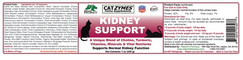 Nature's Farmacy Catzymes Kidney Support 8oz