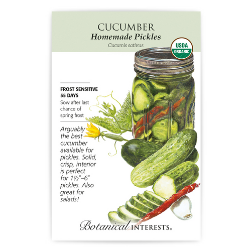 Botanical Interests Cucumber Homemade Pickles Organic