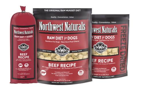 Northwest Naturals Dog Frozen Raw Beef Nuggets 6#