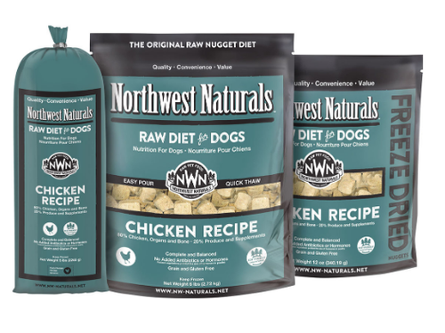 Northwest Naturals Dog Frozen Raw Chicken Nuggets 6#