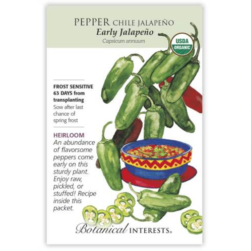 Botanical Interests Pepper Jalapeno Early Organic