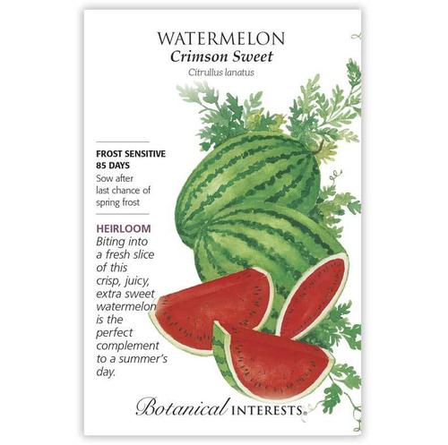 Botanical Interests Watermelon Crimson Sweet Organic