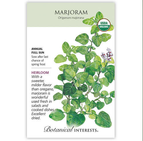 Botanical Interests Marjoram Organic