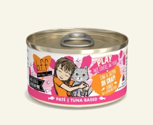 BFF Cat PLAY Pate Tuna Salmon Oh Snap