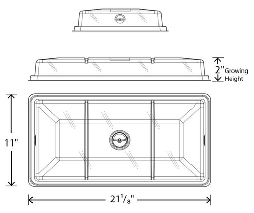 Hydrofarm 1020 Low Dome With Vent