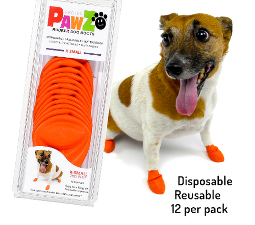 Pawz Dog Rubber Boots  X-Small