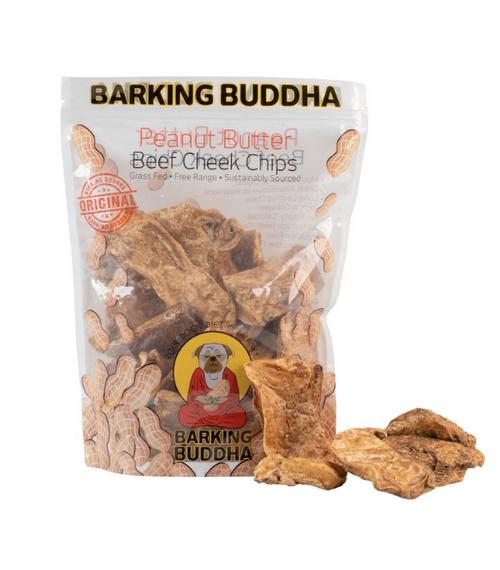 Barking Buddha Peanut Butter Beef Cheek Chips 1#
