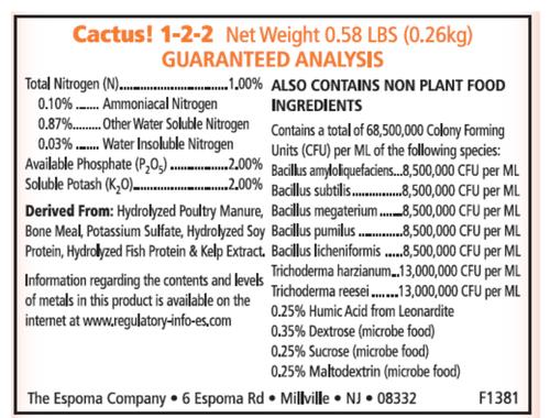 Espoma Organic Cactus Fertilizer 8oz.
