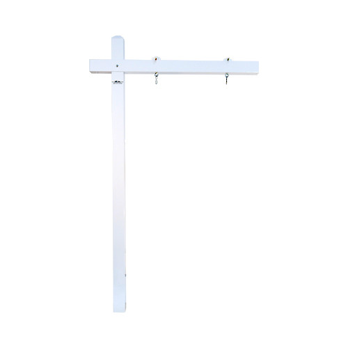 aluminum yardarm sign post - white - for real estate agent