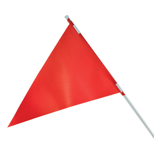 RMD 36 inch Pennant Flag Mount On Round Rod Frame - Red
