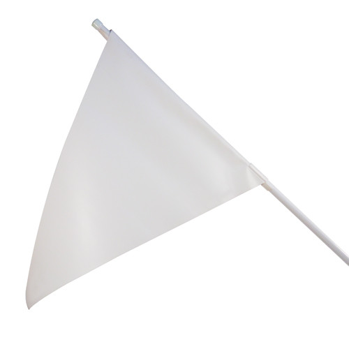 RMD 36 inch Pennant Flag Mount On Round Rod Frame - White