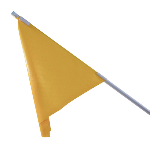 RMD 36 inch Pennant Flag Mount On Round Rod Frame - Yellow