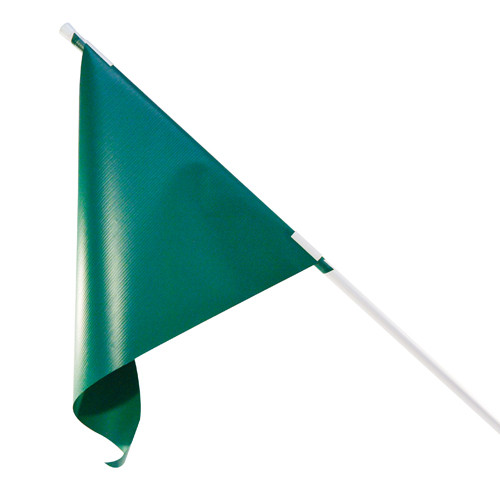 RMD 36 inch Pennant Flag Mount On Round Rod Frame - Green