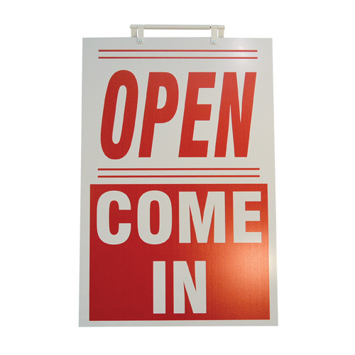 RMD Free Standing Sandwich Board - Open Come In Red & White