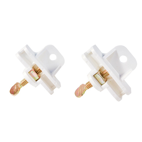 Real Estate Sign Post Rider Clip Mount White - Pair