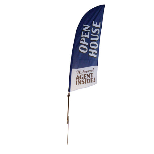 Open House Agent Inside - Feather Flag Blue - Stake Type