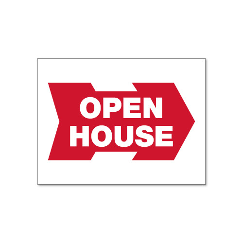 RMD 18x24 Open House Directional Panel - Double Sided Steel